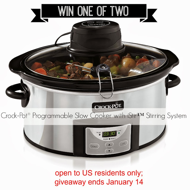Crock-Pot® Programmable Slow Cooker with iStir Stirring System giveaway