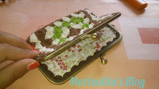 Monedero granny con cierre metálico estilo vintage, ganchillo , crochet, granny square