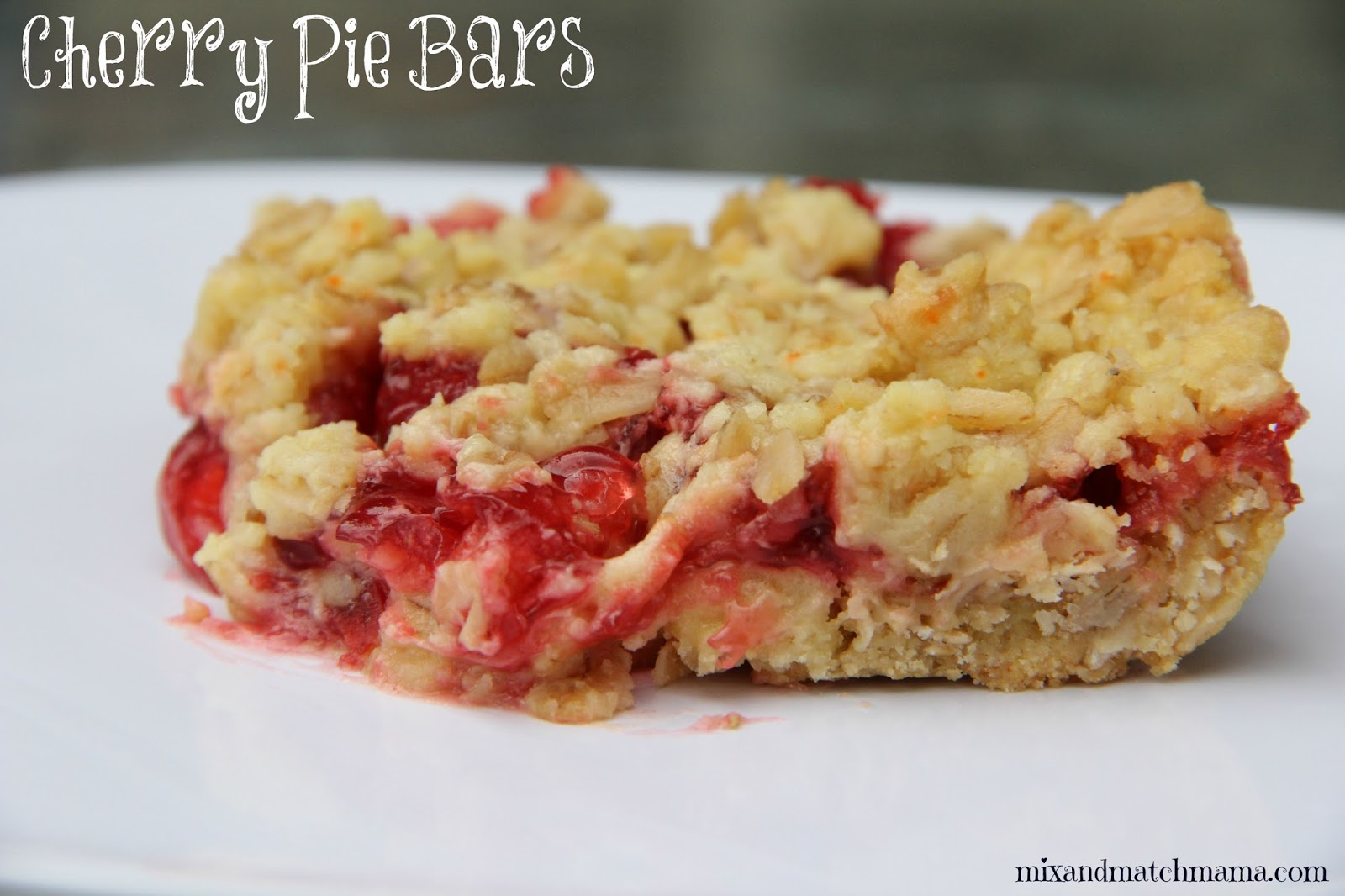 Mix and Match Mama: Bar #36: Cherry Pie