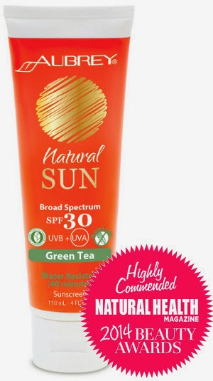 Aurinkovoide Aubrey Natural Sun SPF30 Green Tea