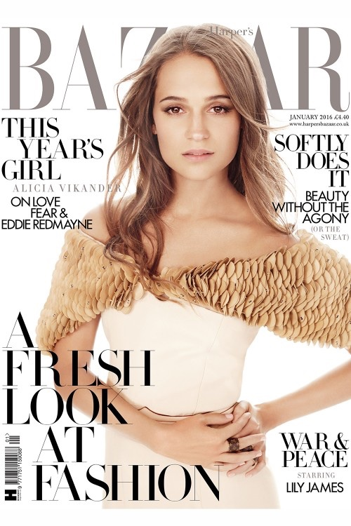 Alicia Vikander in Harper's Bazaar UK