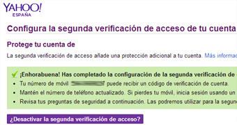 segunda verificacion yahoo completa