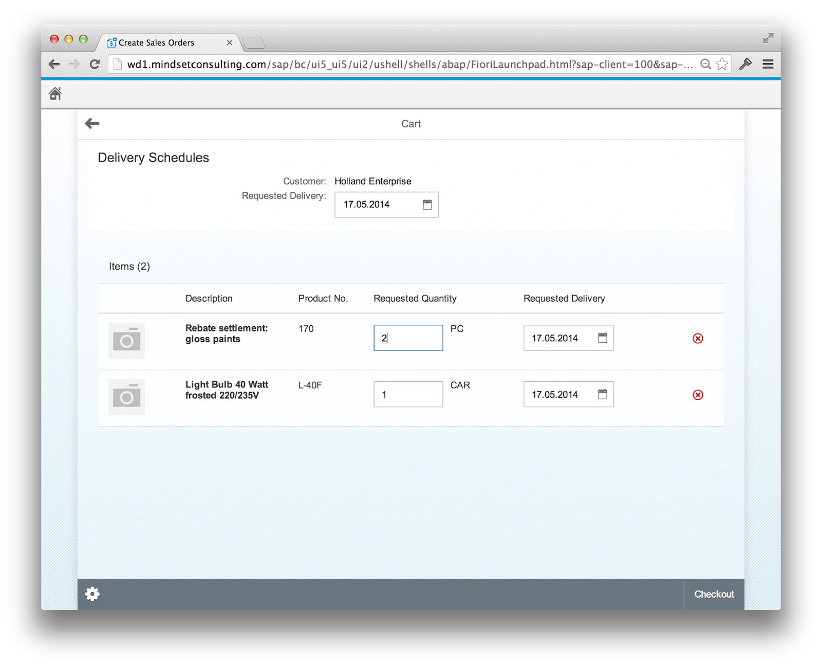 SAP Fiori Create Sales Order - Change Quantity