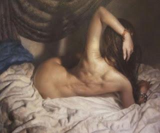 Pintura Desnudo De Espalda