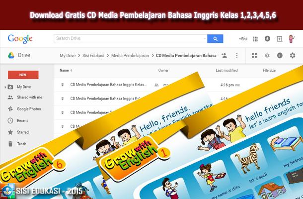 CD Media Pembelajaran Bahasa Inggris Kelas 1,2,3,4,5,6 Download Gratis