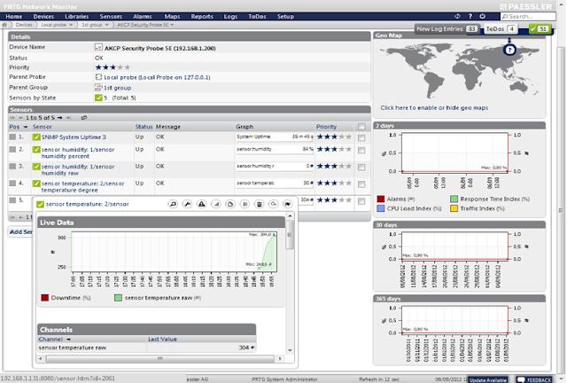 Monitoring Network dan Environment dgn PRTG+AKCP