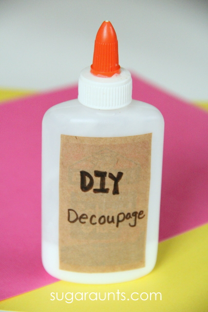 Make your own decoupage for crafts and activities with kids or home projects