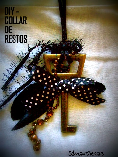 cómo hacer un collar reutilizando restos de pendientes