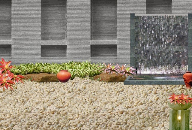 contoh taman kering minimalis