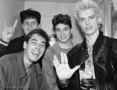 Billy Idol doing vulcan salute with the Beastie Boys