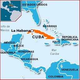 ubicación de cuba en el mapa