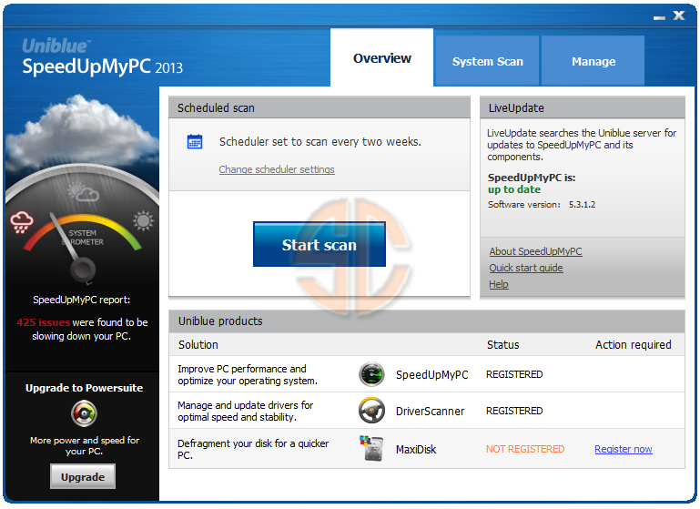 Uniblue SpeedUpMyPC 2013 5.3.1.2 Full Version