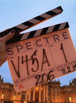 007 Clapperboard from Spectre location Blenheim Palace