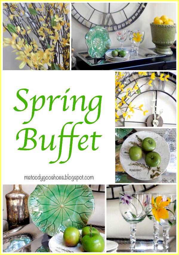 Spring Buffet - Spring greens and yellows are a nice way to add a touch of spring. | Ms. Toody Goo Shoes