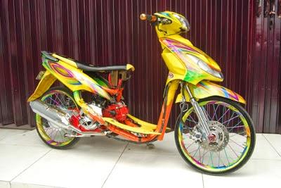 Modifikasi Yamaha Mio Sporty Full Color 2015