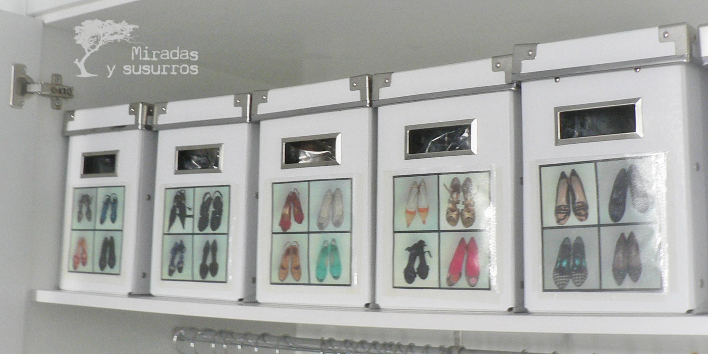 Organizaci n de zapatos miradas y susurros - Guardar zapatos ikea ...