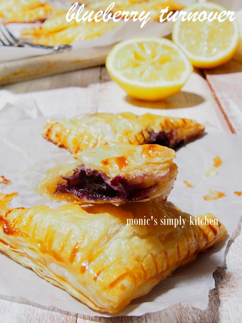 resep blueberry turnover