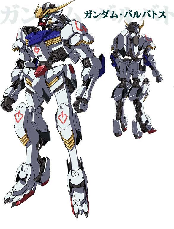 Mobile Suit Gundam: Iron-Blooded Orphans Gundam Barbatos official Mobile Suit design image 00