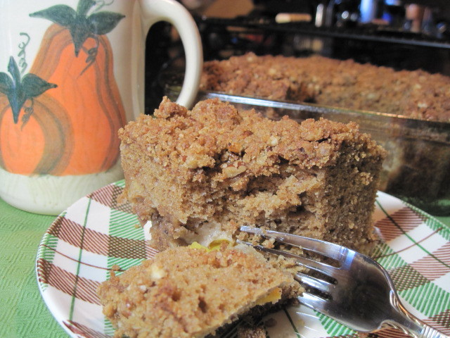 Spiced Peach Coffee Cake Recipe