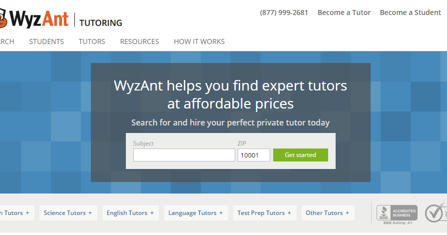 Wyzant become a tutor