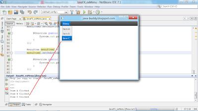 JavaFX 2.0: Add menu