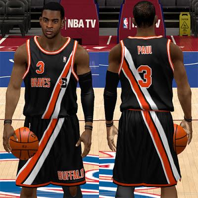 NBA 2K13 Buffalo Braves Fictional Black Alternate Jersey Mod