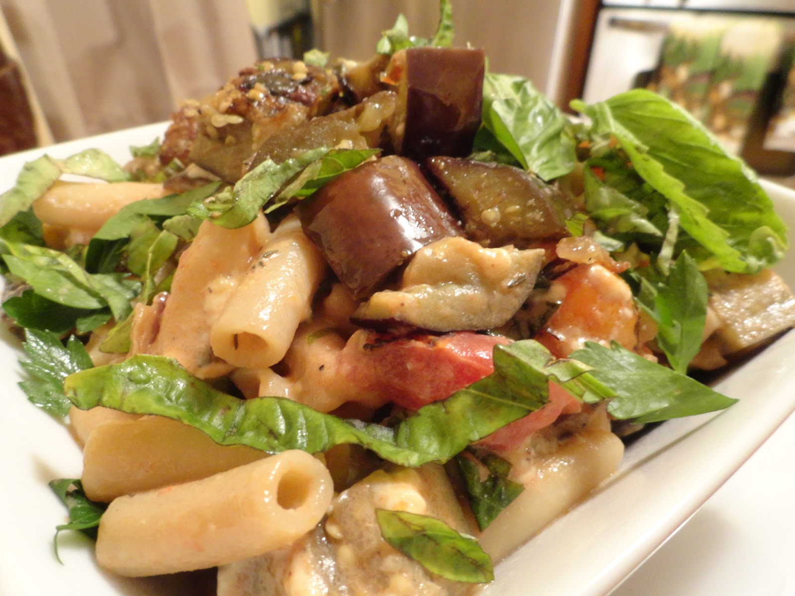"VeganMoFo: Sandra Lee and Penne alla Norma | The ""V"" Word"