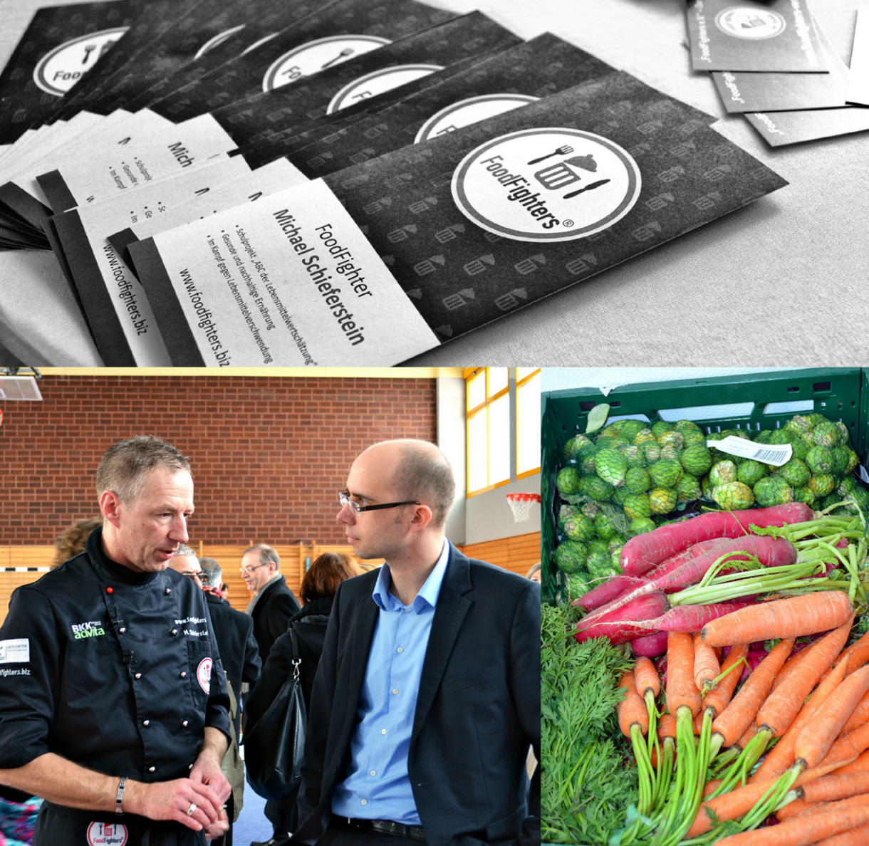 FoodFighters Gründer Michael Schieferstein (l.).