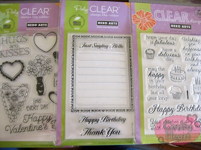Hero Arts clear stamps - Love Every Day, Florentine Message Border, Yummy Treats