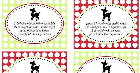 reindeer food tags printable