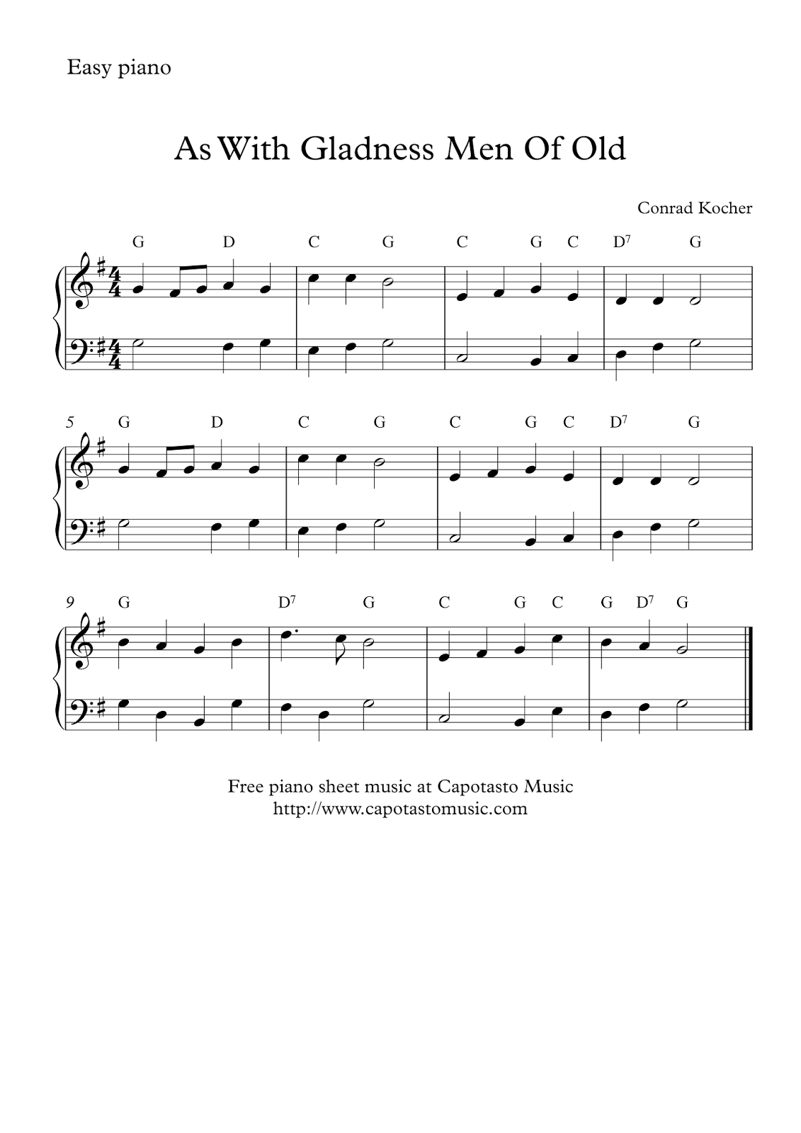 It is a picture of Declarative Easy Christmas Piano Sheet Music