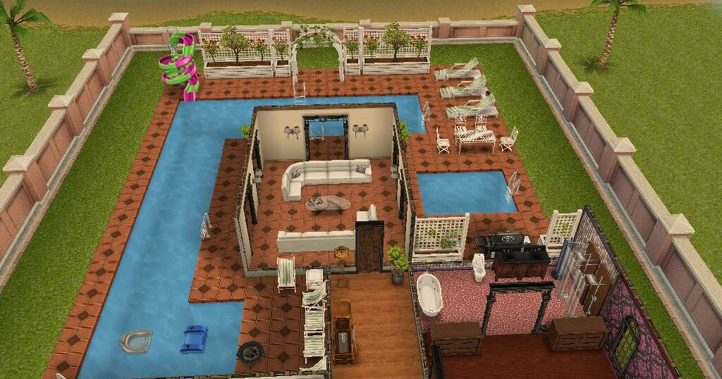 Los sims free play fotos de la mansi n de dos plantas for Casa de diseno the sims freeplay