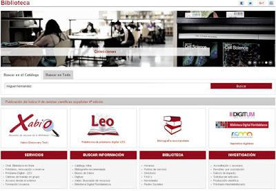 Renovada la Web de la Biblioteca Universitaria de la UM.