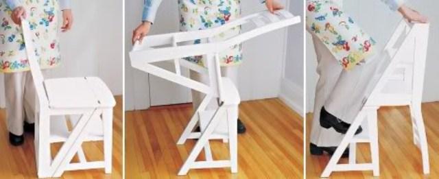 Cadeira que vira uma escada
