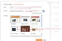 cara membuat blog thap awal