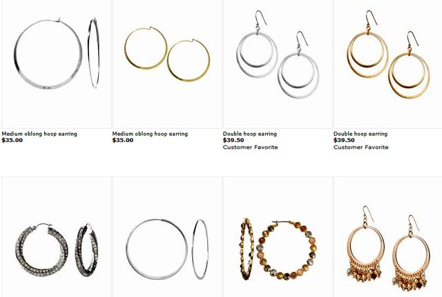 Hoop Earrings at BananaRepublic.gap.com