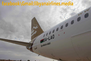 Libyan Airlines new A320 in Misrata