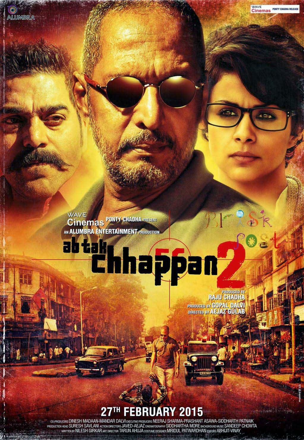 Ashutosh Rana, Nana Patekar and Gul Panag in Ab Tak Chhappan 2 movie Poster