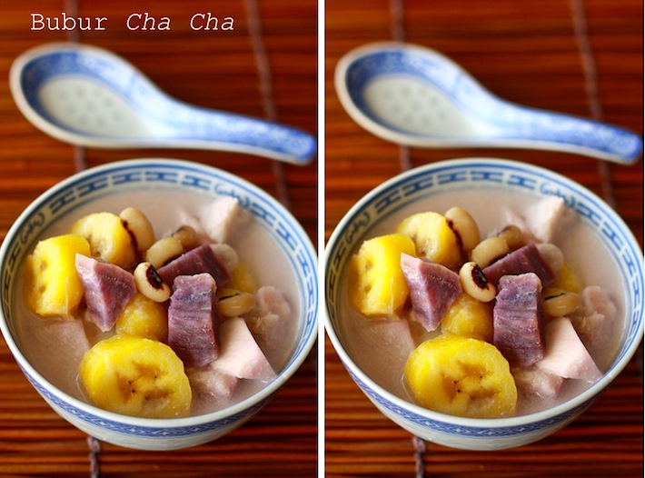 Malaysian dessert recipe called Bubur Cha Cha by SeasonWithSpice.com