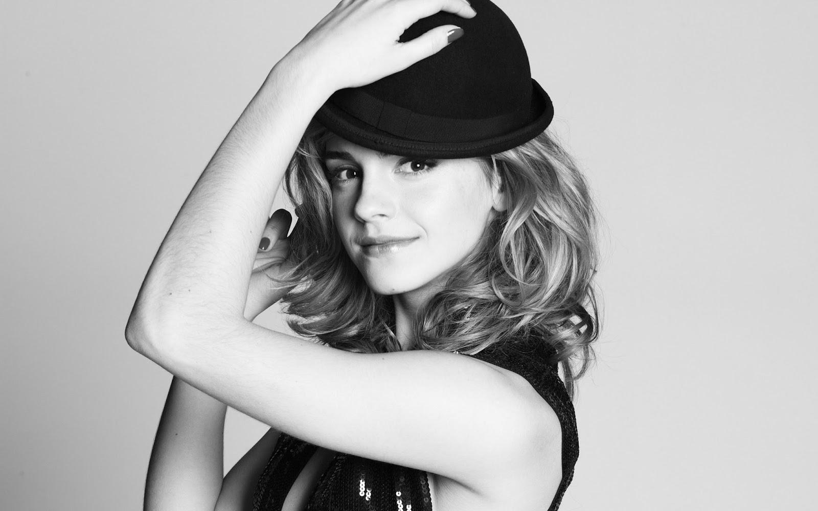 Emma Watson Black n White Pics HD