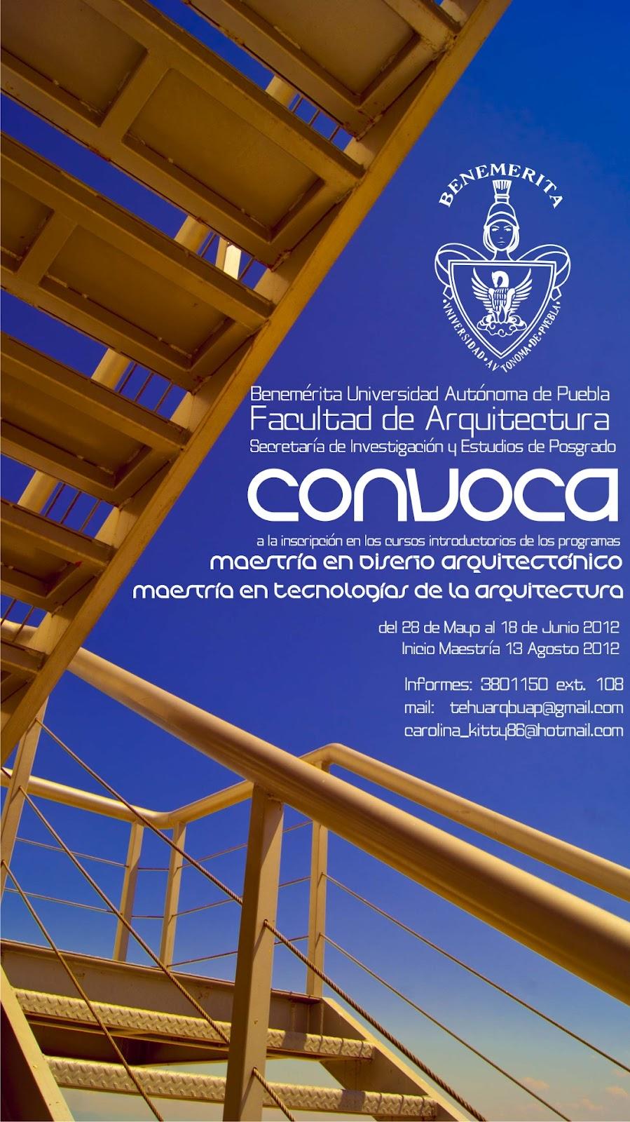 Arquitectura buap tehuacan abril 2012 for Arquitectura 5 de mayo plan de estudios
