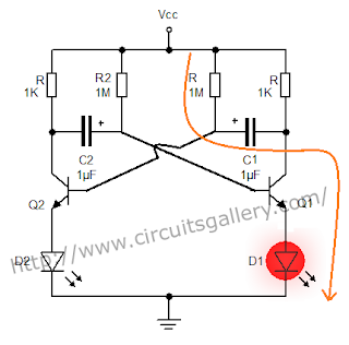 Astable+multivibrator+circuit+using+transistors+2 Astable Multivibrator using transistors   Transistorised Circuit wave form and operation