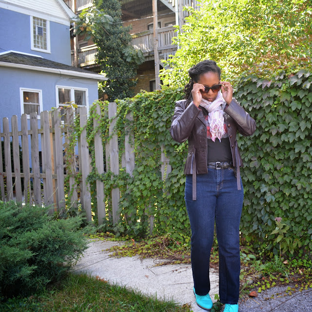style and co thrifted jeans are apart of my sahm style