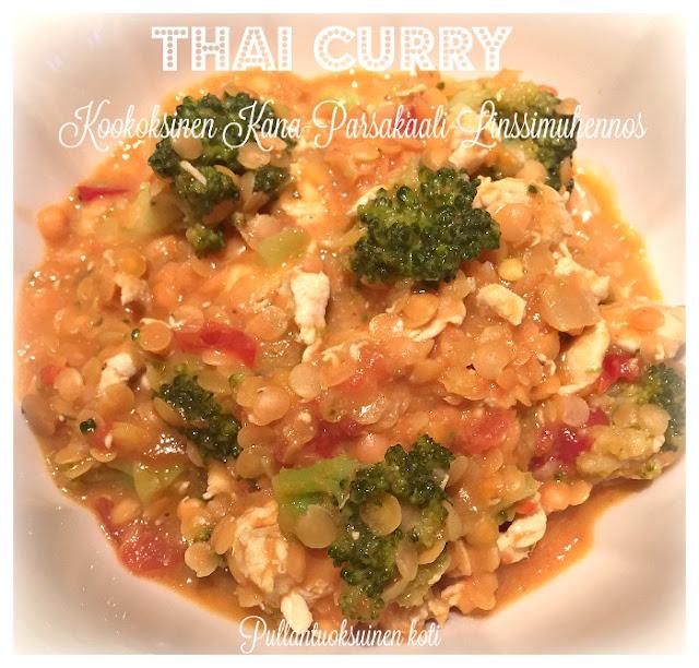 Thai Curry - Kana-Parsakaali-Linssimuhennos