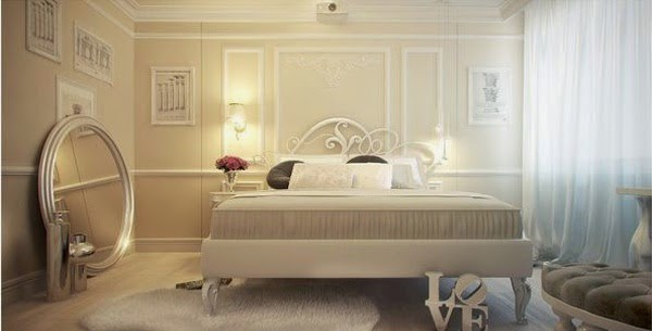 d coration romantique chambre de ma tre avec eclairage. Black Bedroom Furniture Sets. Home Design Ideas