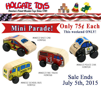 Holgate Toys Mini Parade! Save BIG on some of our popular items.
