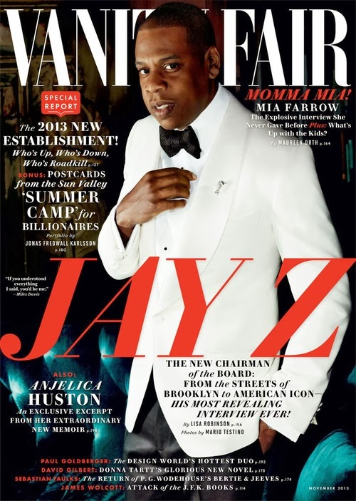 Jay Z covers Vanity Fair November 2013
