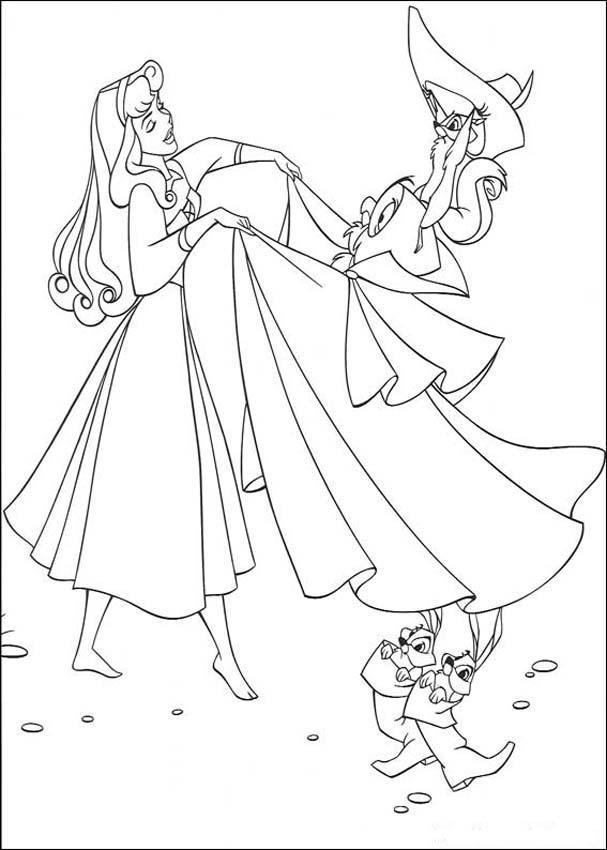 Coloring Pages Fun Princess Aurora