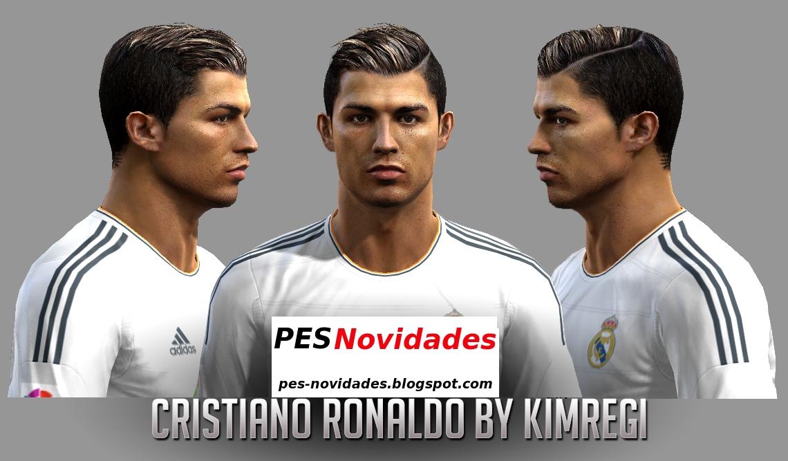 PES 2013: Face de Cristiano Ronaldo-Novo Hair 2013: ~ PES Novidades