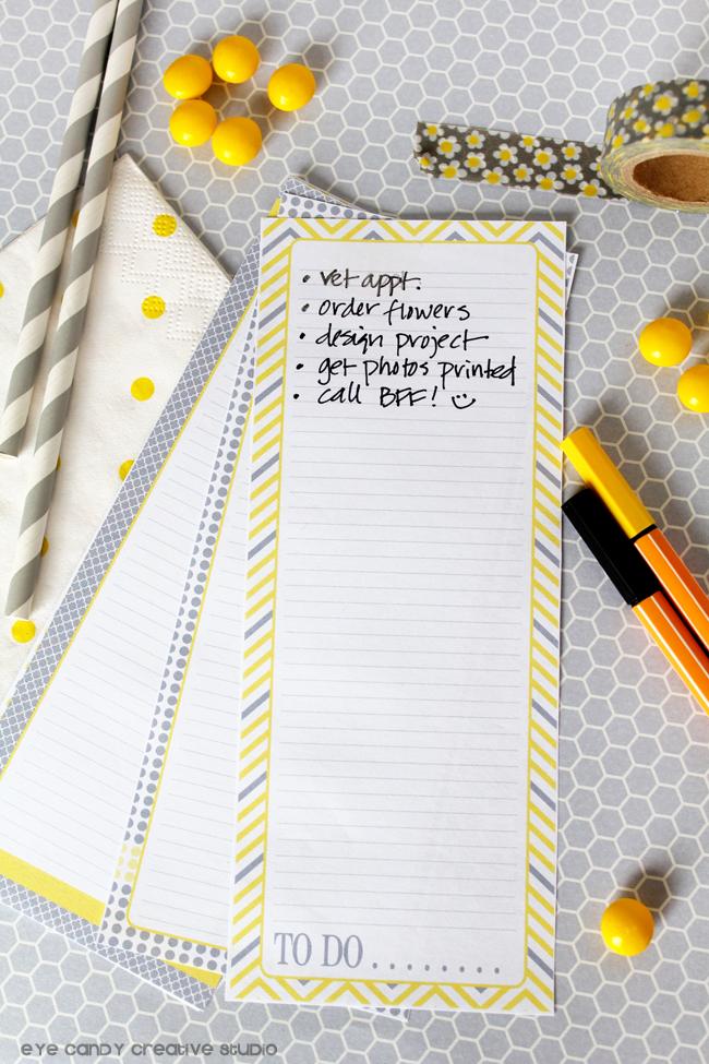don't forget, to do list, grey straws, washi tape, yellow pen, chevron